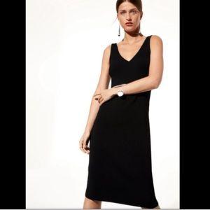 NWT Aritzia Babaton Ribbed black midi dress XXS